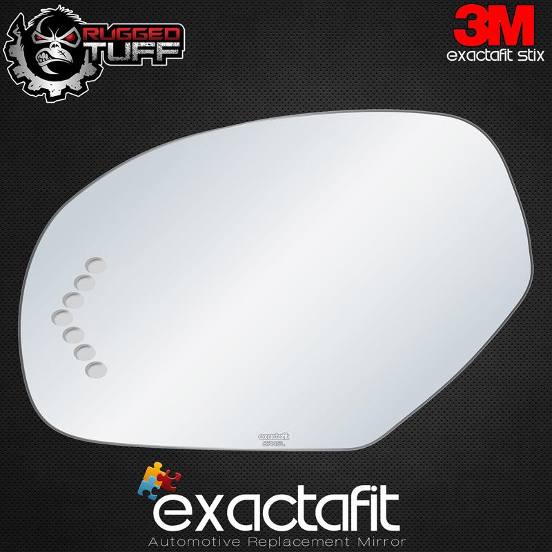 LD111 NEW Mirror Glass for SILVERADO ESCALADE TAHOE YUKON Driver Side View Left